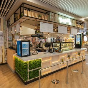 Food outlets at the Cairns airport