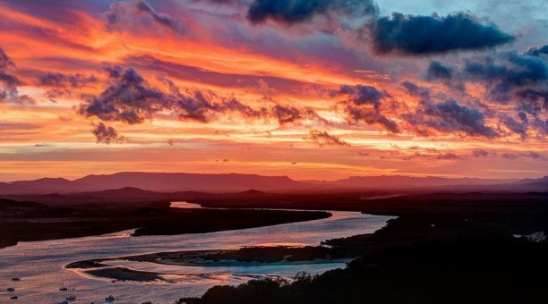 Sunset over Endeavour River, Queensland Australia