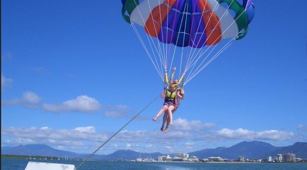 Go Para-sailing in Cairns its a birds eye view of the city