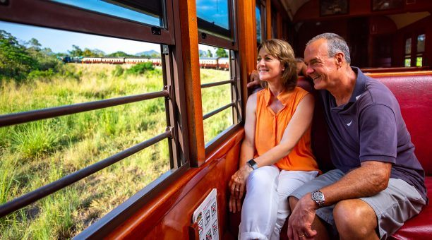 Heritage Class on the scenic train